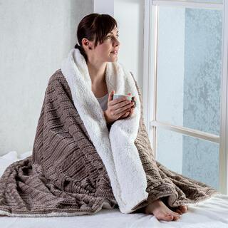 Barančeková deka z mikroflanelu s 3D efektom COFFEE 140 x 200 cm