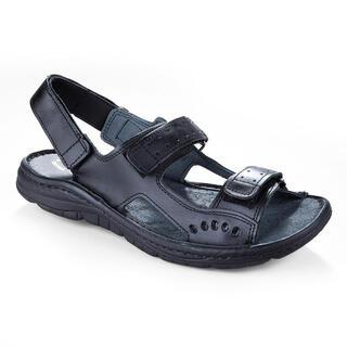 Pánske celokožené sandále čierne