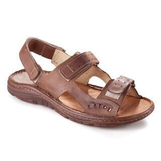 Pánske celokožené sandále hnedé