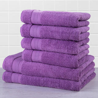 Sada froté uterákov a osušiek MEXICO fialová 6 ks