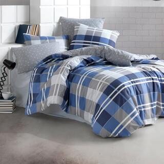 Bavlnené posteľné obliečky MARK modré