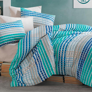 Bavlnené posteľné obliečky TEMA zelené