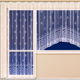 Hotová žakárová záclona MANUELA - balkónový komplet