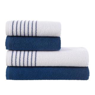 Sada froté uterákov a osušiek DAVOS námornícka modrá 4 ks