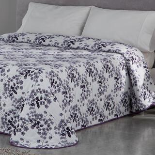 Prikrývka cez posteľ CARLOTA fialová