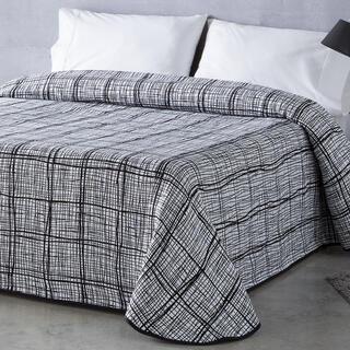 Prikrývka cez posteľ NORMA čierna, dvojlôžko