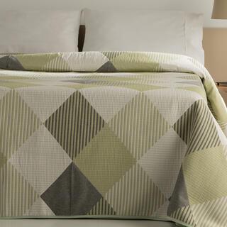 Prikrývka cez posteľ RUBI zelená, dvojlôžko