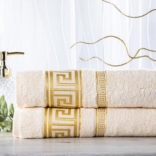 Sada 2 kusov bambusových uterákov ROMA smotanová 50 x 100 cm