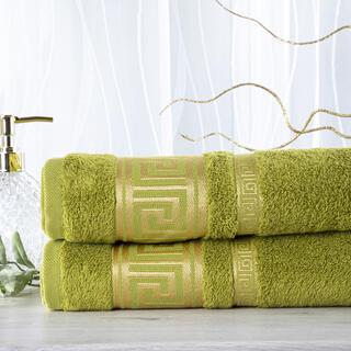 Sada 2 kusov bambusových uterákov ROMA zelená 50 x 100 cm
