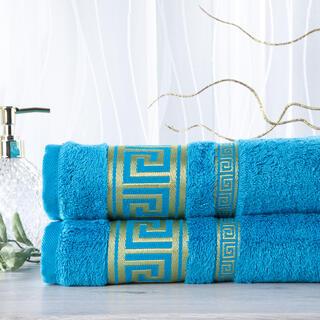 Sada 2 kusov bambusových uterákov ROMA tyrkysová 50 x 100 cm