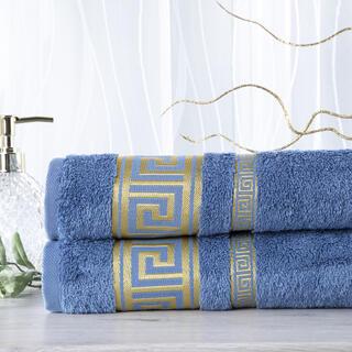 Sada 2 kusov bambusových uterákov ROMA modrá 50 x 100 cm
