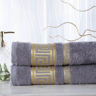 Sada 2 kusov bambusových uterákov ROMA tmavošedá 50 x 100 cm