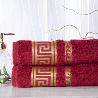 Sada 2 kusov bambusových uterákov ROMA vínová 50 x 100 cm