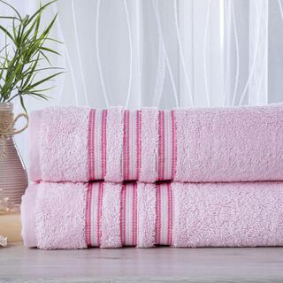 Sada 2 kusov froté uterákov FIRUZE ružová 50 x 100 cm