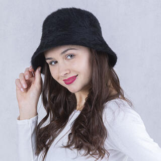 Dámsky klobúk ANGORA čierny
