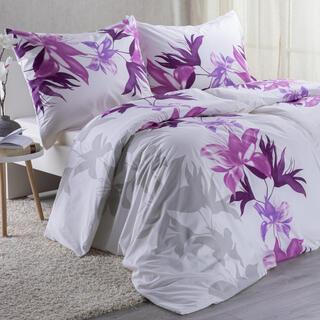 Bavlnené posteľné obliečky NELA fialová