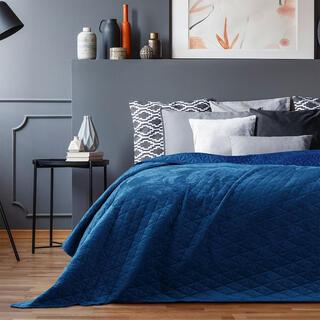 Prikrývka na posteľ LAILA kráľovská modrá