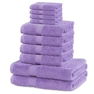 Sada froté uterákov a osušiek MARINA lila 10 ks