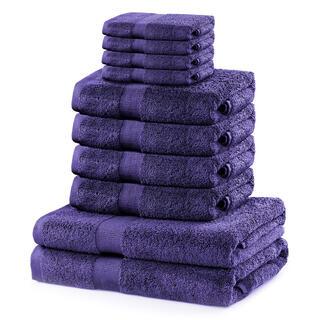 Sada froté uterákov a osušiek MARINA purpurová 10 ks