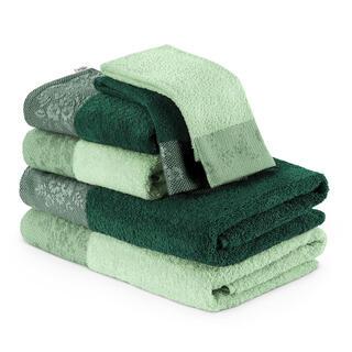 Sada froté uterákov a osušiek CREA zelená 6 ks