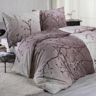 Bavlnené posteľné obliečky PATRICIA hnedé