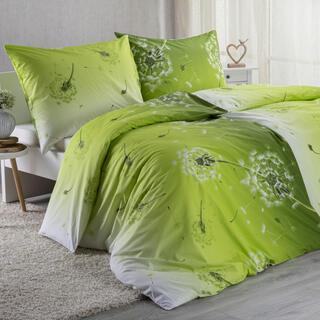 Bavlnené posteľné obliečky DANDELION zelené