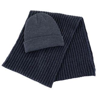 Pánsky set čiapky a šálu antracitová