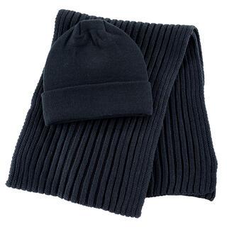 Pánsky set čiapky a šálu čierna