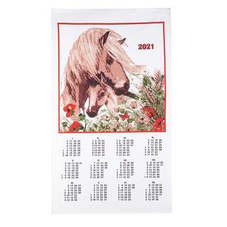 Textilný kalendár Kôň