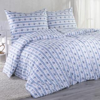 Bavlnené posteľné obliečky ROZÁLIE modrá