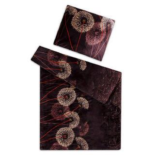 Posteľné obliečky z mikroflanelu PÚPAVY hnedá