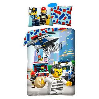 Bavlnené posteľné obliečky LEGO CITY