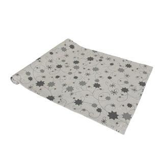 Behúň LUREX šedá hviezda 40 x 140 cm