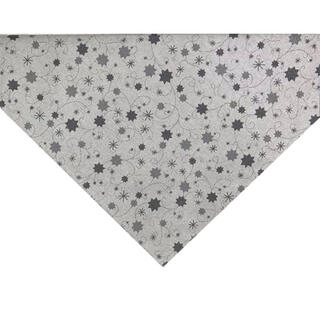 Stredový obrus LUREX šedá hviezda 65 x 65 cm