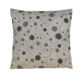 Obliečka na vankúš LUREX šedá hviezda 40 x 40 cm