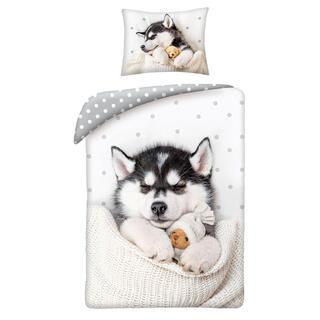 Bavlnené posteľné obliečky MIMI HUSKY