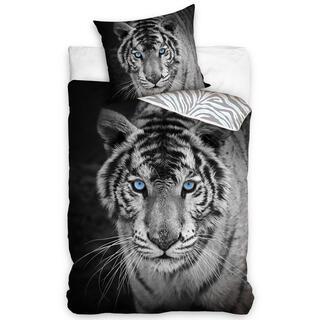 Bavlnené posteľné obliečky TIGER BLUE EYES