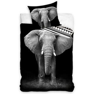 Bavlnené posteľné obliečky SLON AFRICKÝ