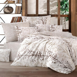 Bavlnené posteľné obliečky MASAL béžové