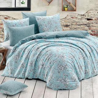 Bavlnené posteľné obliečky ESTELITA tyrkysové, jednolôžko