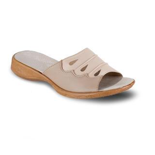 Dámske zdravotné papuče kožené