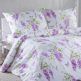 Bavlnené posteľné obliečky ORGOVÁN fialová
