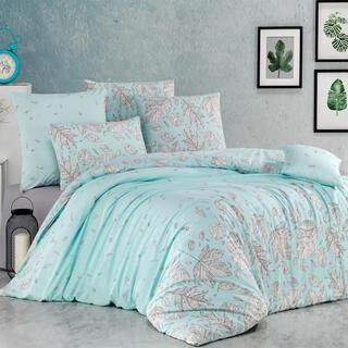 Bavlnené renforcé posteľné obliečky HOSTTID mentolové