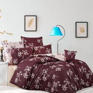 Bavlnené renforcé posteľné obliečky IDIL burgundy