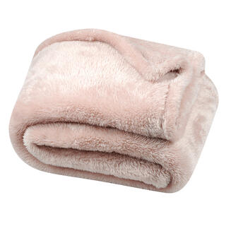 Barančeková deka svetloružová