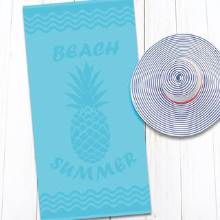 Bavlnená plážová osuška ANANÁS 80 x 160 cm
