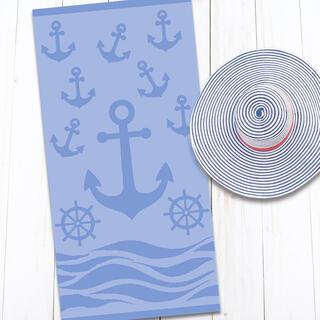 Bavlnená plážová osuška KOTVA 80 x 160 cm