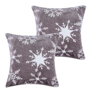 Obliečky na vankúšiky z mikroflanelu SNOWY 40 x 40 cm 2 ks