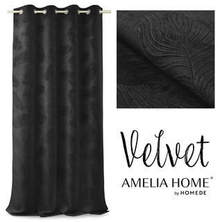 Záves BLACKOUT PEACOCK čierny 135 x 250 cm