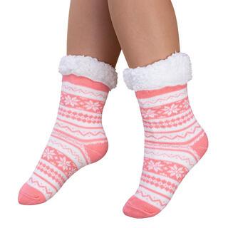 Ponožky na spanie BERIT lososové, veľ. 43 - 45